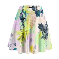 Colorful Paint High Waist Skirt by Brittlevirginclothing