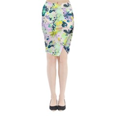Colorful Paint Midi Wrap Pencil Skirt by Brittlevirginclothing