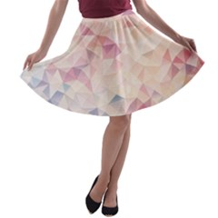 Pastel Diamond A-line Skater Skirt by Brittlevirginclothing
