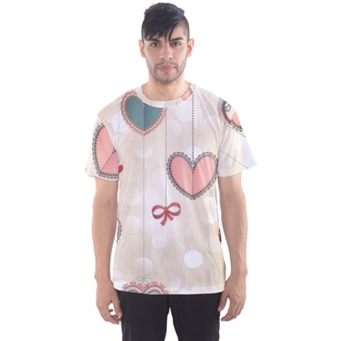 Cute Hearts Men s Sport Mesh Tee by Brittlevirginclothing