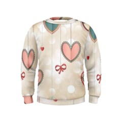 Cute Hearts Kids  Sweatshirt by Brittlevirginclothing