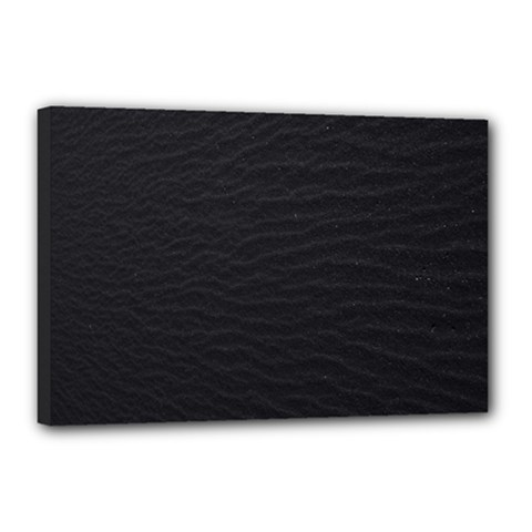 Black Pattern Sand Surface Texture Canvas 18  X 12  by Amaryn4rt