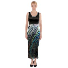 Bubble Iridescent Soap Bubble Fitted Maxi Dress by Amaryn4rt