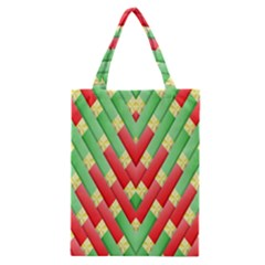 Christmas Geometric 3d Design Classic Tote Bag by Amaryn4rt
