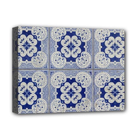 Ceramic Portugal Tiles Wall Deluxe Canvas 16  X 12
