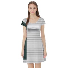 Construction Design Door Exterior Short Sleeve Skater Dress by Amaryn4rt