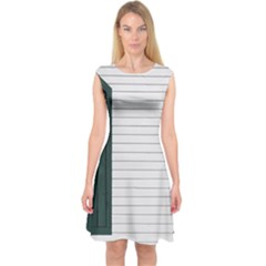 Construction Design Door Exterior Capsleeve Midi Dress by Amaryn4rt