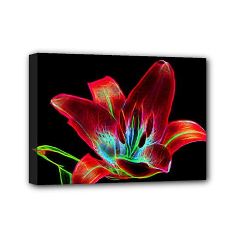 Flower Pattern Design Abstract Background Mini Canvas 7  X 5  by Amaryn4rt