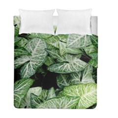 Green Leaves Nature Pattern Plant Duvet Cover Double Side (full/ Double Size) by Amaryn4rt