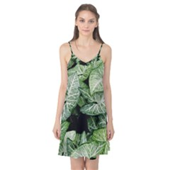 Green Leaves Nature Pattern Plant Camis Nightgown
