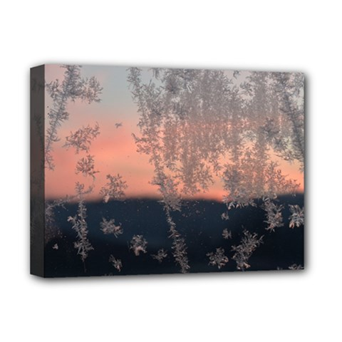 Hardest Frost Winter Cold Frozen Deluxe Canvas 16  X 12   by Amaryn4rt