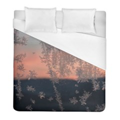 Hardest Frost Winter Cold Frozen Duvet Cover (full/ Double Size) by Amaryn4rt