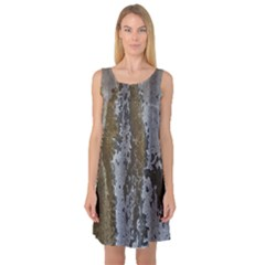 Grunge Rust Old Wall Metal Texture Sleeveless Satin Nightdress by Amaryn4rt