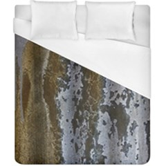Grunge Rust Old Wall Metal Texture Duvet Cover (california King Size) by Amaryn4rt