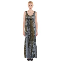 Grunge Rust Old Wall Metal Texture Maxi Thigh Split Dress by Amaryn4rt