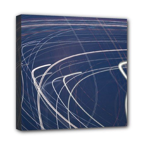 Light Movement Pattern Abstract Mini Canvas 8  X 8