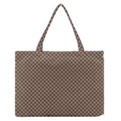 Pattern Background Diamonds Plaid Medium Zipper Tote Bag