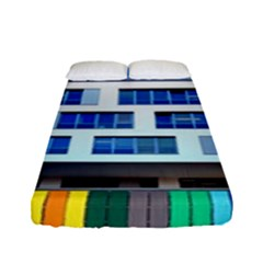 Office Building Fitted Sheet (full/ Double Size) by Amaryn4rt