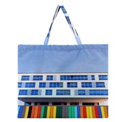 Office Building Zipper Large Tote Bag