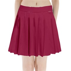 Deep Red Pleated Mini Skirt by Valentinaart