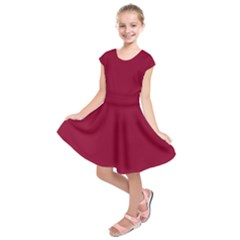 Deep Red Kids  Short Sleeve Dress by Valentinaart