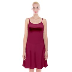 Deep Red Spaghetti Strap Velvet Dress