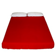 Just Red Fitted Sheet (king Size)