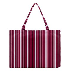 Red Lines Medium Tote Bag by Valentinaart
