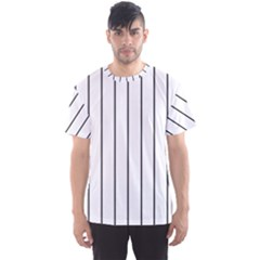 White And Black Lines Men s Sport Mesh Tee