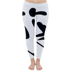 Archery Skiing Pictogram Classic Winter Leggings