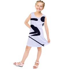 Archery Skiing Pictogram Kids  Tunic Dress