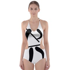 Arnis Pictogram Cut-out One Piece Swimsuit by abbeyz71