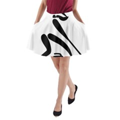 Curling Pictogram  A Line Pocket Skirt by abbeyz71
