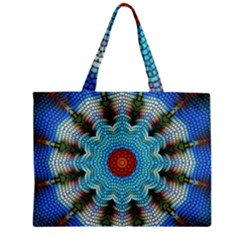 Pattern Blue Brown Background Zipper Mini Tote Bag by Amaryn4rt