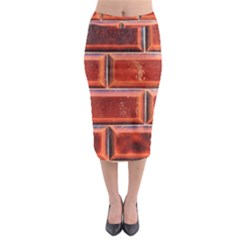 Portugal Ceramic Tiles Wall Midi Pencil Skirt