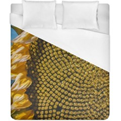 Sunflower Bright Close Up Color Disk Florets Duvet Cover (california King Size) by Amaryn4rt