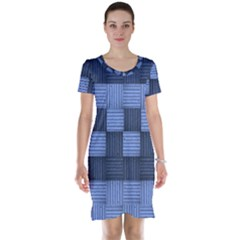 Texture Structure Surface Basket Short Sleeve Nightdress