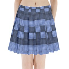 Texture Structure Surface Basket Pleated Mini Skirt by Amaryn4rt