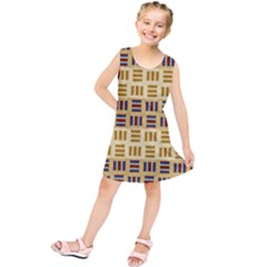 Textile Texture Fabric Material Kids  Tunic Dress by Amaryn4rt