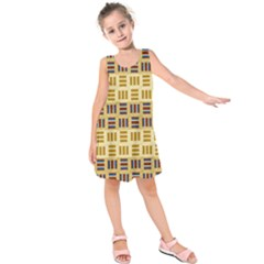 Textile Texture Fabric Material Kids  Sleeveless Dress by Amaryn4rt