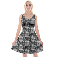 Sugar Skull Reversible Velvet Sleeveless Dress