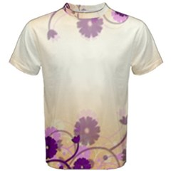 Background Floral Background Men s Cotton Tee