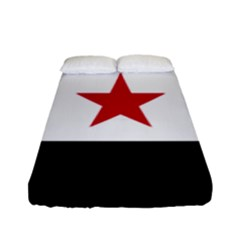 Flag Of Syria Fitted Sheet (full/ Double Size) by abbeyz71
