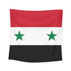 Flag Of Syria Square Tapestry (small) by abbeyz71
