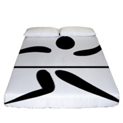 Badminton Pictogram Fitted Sheet (california King Size) by abbeyz71