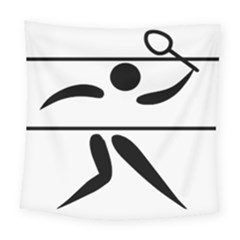 Badminton Pictogram Square Tapestry (large) by abbeyz71
