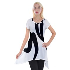 Bandy Pictogram Short Sleeve Side Drop Tunic by abbeyz71