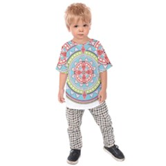 Drawing Mandala Art Kids  Raglan Tee by Amaryn4rt