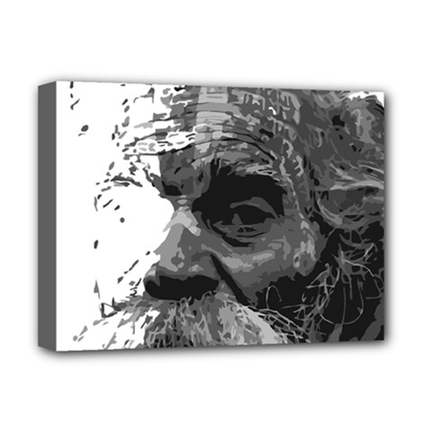 Grandfather Old Man Brush Design Deluxe Canvas 16  X 12   by Amaryn4rt