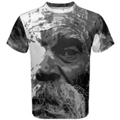 Grandfather Old Man Brush Design Men s Cotton Tee